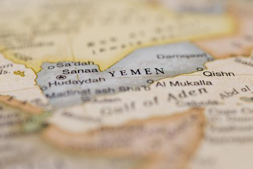 Yemen on a globe