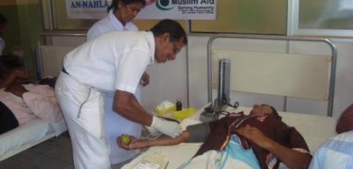 Muslim Aid Sri Lanka supports a blood donation camp