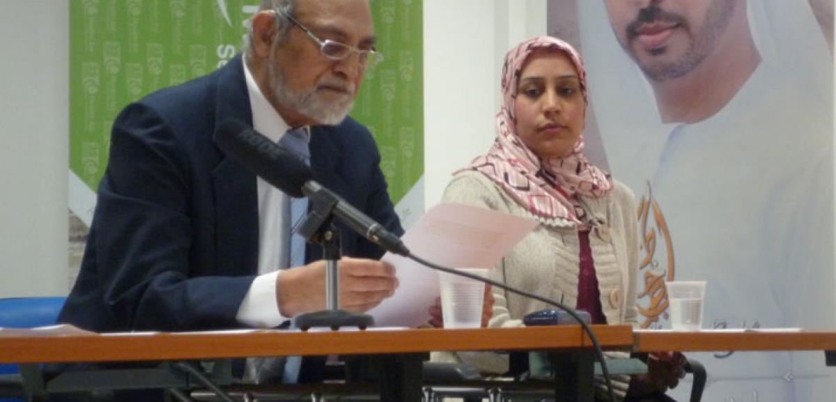 (from left to right) Tanzeem Wasti, Secretary of the Board of Trustees and Sherin Al-Shaikh Ahmed, Muslim Aid