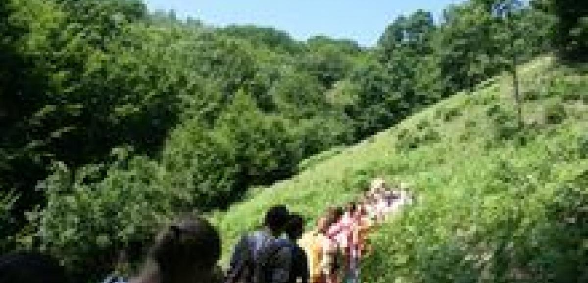 Rainbow Family children complete shorter version of Srebrenica Walk