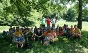 Rainbow Family children complete shorter version of Srebrenica Walk