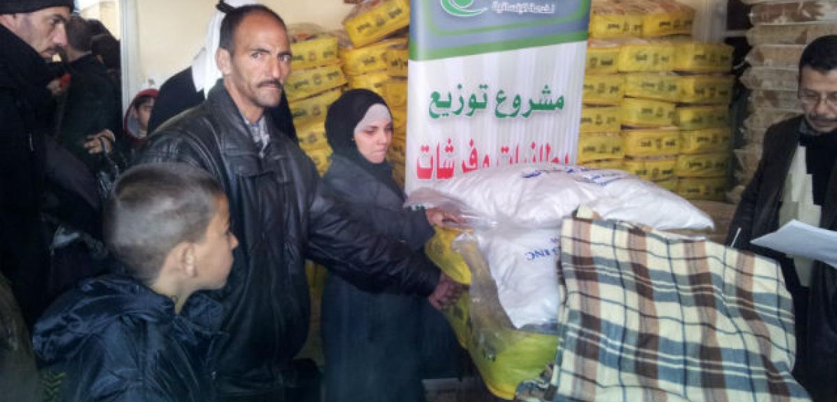 Muslim Aid Keep Warm Kit distribution for Syrian Refugees