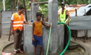 Muslim Aid Sri Lanka helping to clean wells for the flood affected community