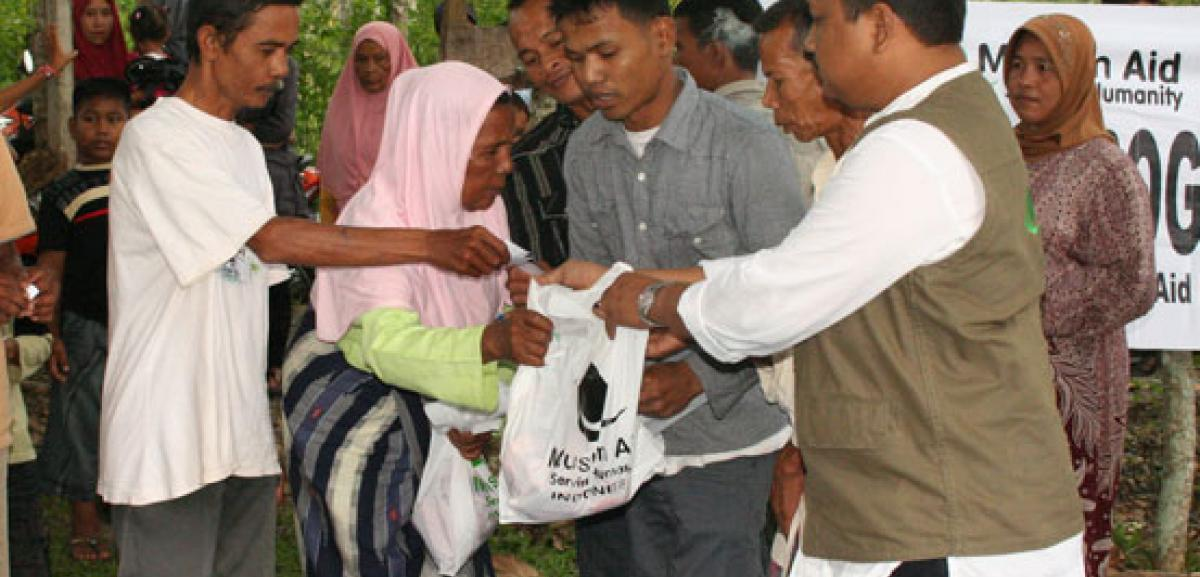 Meat being distributed in Indonesia