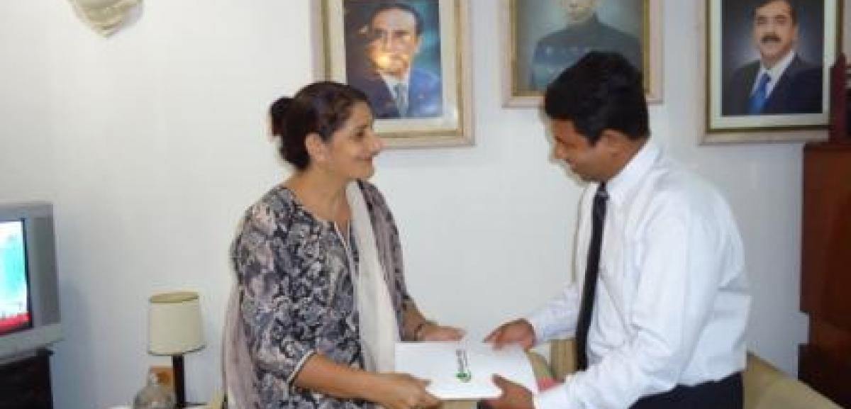 Muslim Aid signs a MOU with the High Commission for Pakistan in for water projects in the North